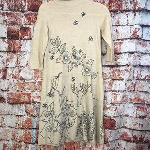 Moth Anthropologie mock neck moose sweater dress